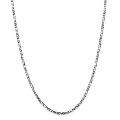 Picture of Leslie's 14k White Gold 2.9mm Flat Beveled Curb Chain Necklace