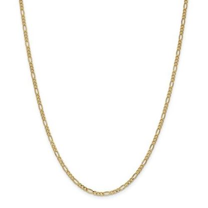 Picture of Leslie's 14k Yellow Gold 2.5mm Figaro Chain Necklace