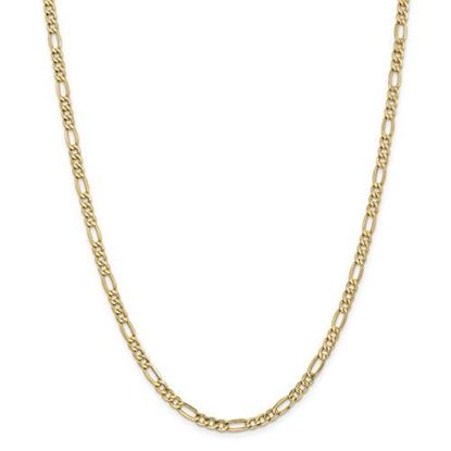 Picture of Leslie's 14k Yellow Gold 4.40mm Semi-Solid Figaro Chain Necklace