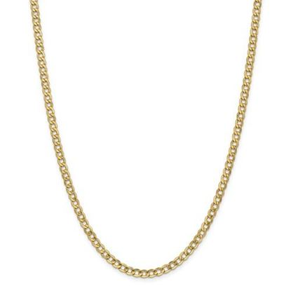 Picture of Leslie's 14k Yellow Gold 4.3mm Semi-Solid Curb Link Chain Necklace