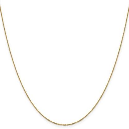 Picture of Leslie's 14k Yellow Gold 1.1 mm Flat Cable Chain Necklace
