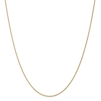 Picture of Leslie's 14k Yellow Gold 1mm Spiga Wheat Chain Necklace