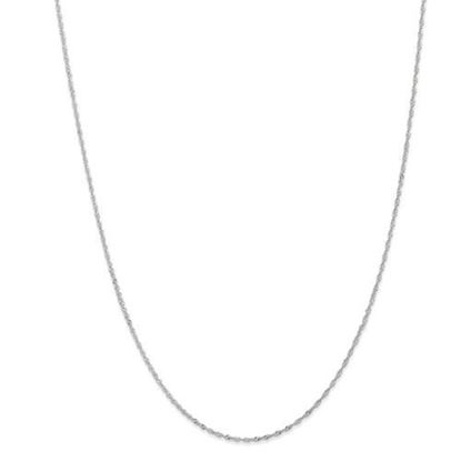 Picture of Leslie's 14k White Gold 1 mm Singapore Chain Necklace