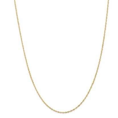 Picture of Leslie's 14k Yellow Gold 1 mm Light Singapore Necklace