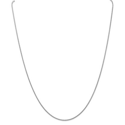 Picture of Leslie's 14k White Gold 1.3 mm Snake Chain Necklace