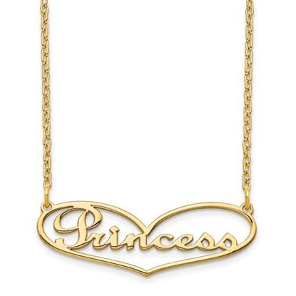 Picture of Personalized Gold-plated Heart Small Nameplate Necklace