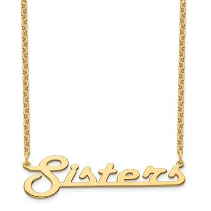 Picture of Personalized Gold-plated Underlined Large Nameplate Necklace