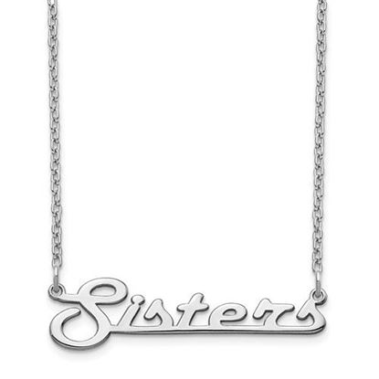 Picture of Personalized Sterling Silver Underlined Small Nameplate Necklace