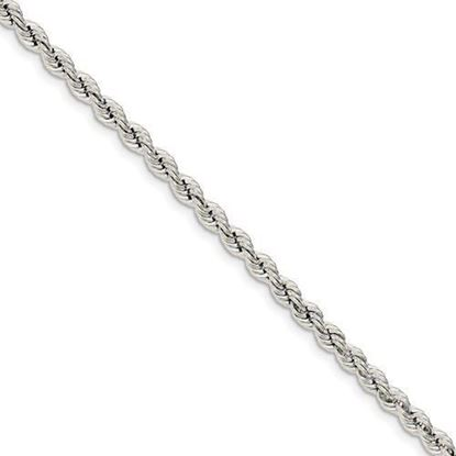 9 inch Sterling Silver 4.3mm Solid Rope Chain Anklet