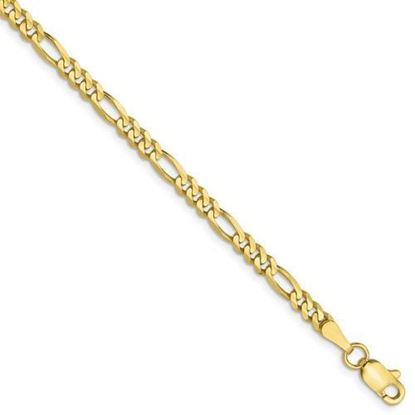 10 inch Leslie's 10k Yellow Gold 3.0mm Figaro Chain Anklet