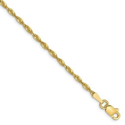 9 inch Leslie's 10k Yellow Gold 1.8mm Diamond Cut Lightweight Rope Chain Anklet