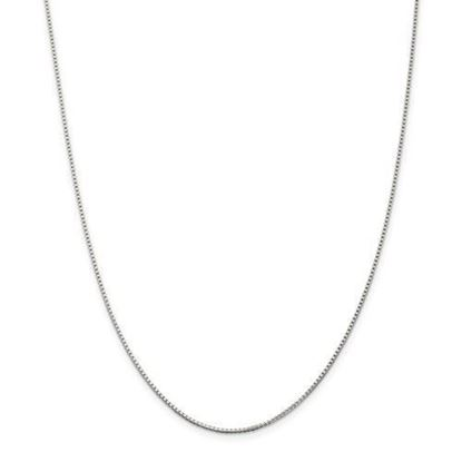 Sterling Silver 1.25mm Box Chain Necklace