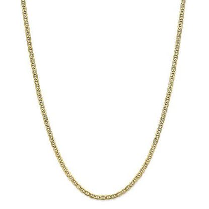 10k Yellow Gold 3.20mm Semi-Solid Anchor Chain Necklace