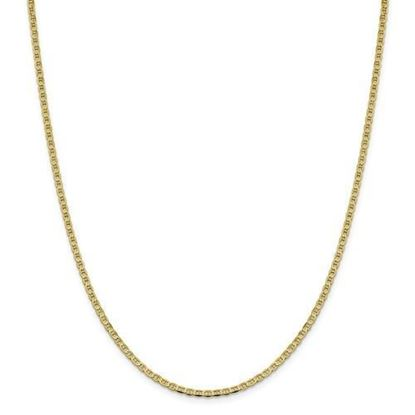 10k Yellow Gold 2.4mm Flat Anchor Chain Necklace
