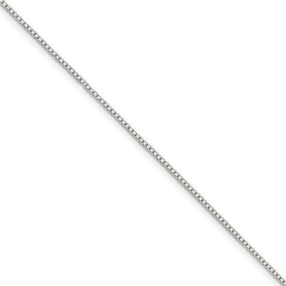 10 inch Sterling Silver 1.10mm Box Chain Anklet