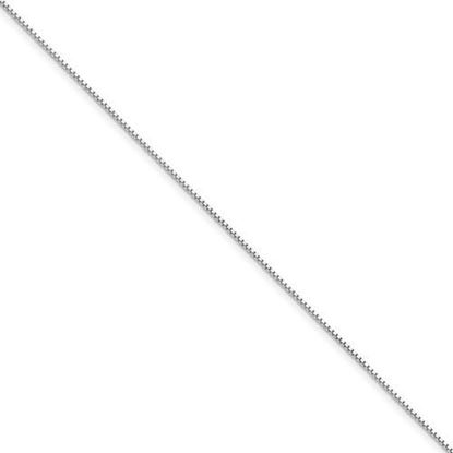 9 inch 14k White Gold .95mm Box Chain Anklet
