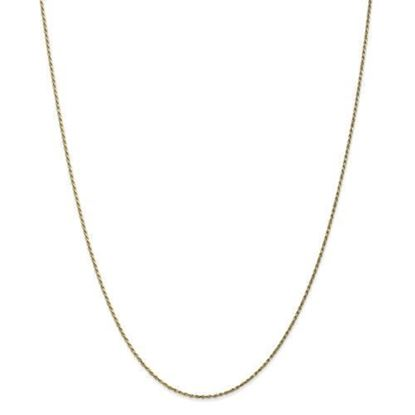 10k Yellow Gold 1.15mm Machine Made Diamond Cut Rope Chain Necklace