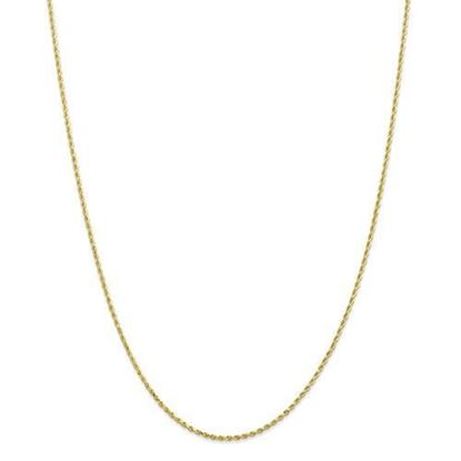 10k Yellow Gold 1.5mm Diamond Cut Rope Chain Necklace