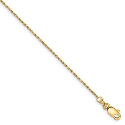 6 inch 14k Yellow Gold 0.80mm Spiga Pendant Chain Bracelet
