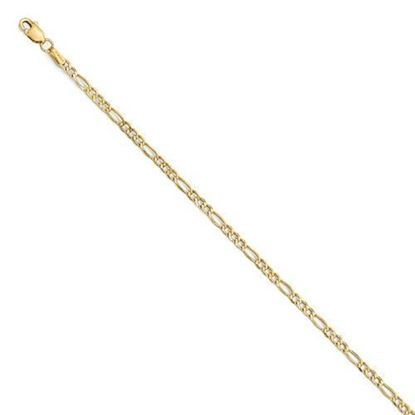 7 inch Leslie's 14k Yellow Gold 2.5mm Figaro Chain Bracelet