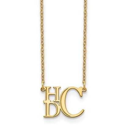 Personalized Gold Plated Semi Stacked Monogram Necklace